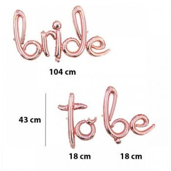 Bride To Be Folyo Balon Rose Gold
